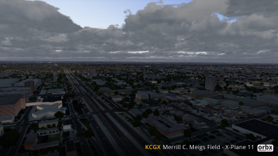 KCGX Merrill C. Meigs Field - X-Plane 11 screenshot