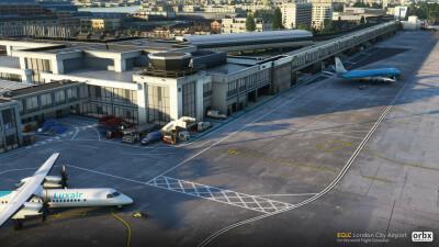EGLC London City Airport - Microsoft Flight Simulator screenshot