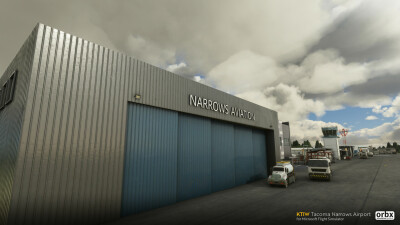 KTIW Tacoma Narrows Airport - Microsoft Flight Simulator screenshot