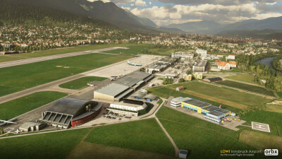 LOWI Innsbruck Airport - Microsoft Flight Simulator screenshot