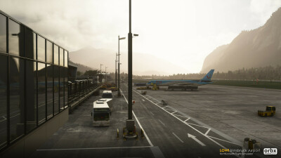 LOWI Innsbruck Airport - Microsoft Flight Simulator screenshot