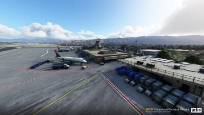 KBUR Hollywood Burbank Airport - Microsoft Flight Simulator screenshot