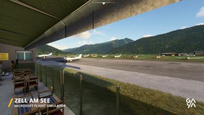 LOWZ Zell am See Airport - Microsoft Flight Simulator screenshot