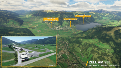 LOWZ Zell am See Airport - Microsoft Flight Simulator screenshot