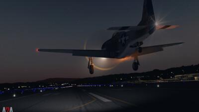 A2A P-51D Civilian (P3D Academic) screenshot