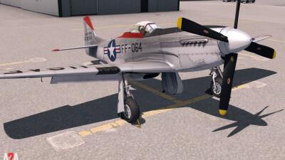 A2A P-51D Military (P3D Academic) screenshot