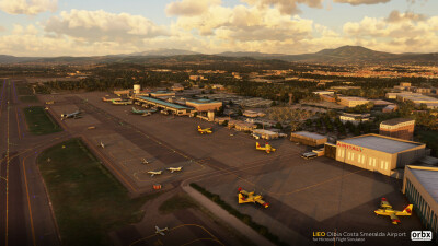 LIEO Olbia Costa Smeralda Airport - Microsoft Flight Simulator screenshot
