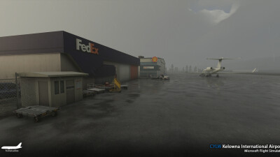 CYLW Kelowna International Airport - Microsoft Flight Simulator screenshot