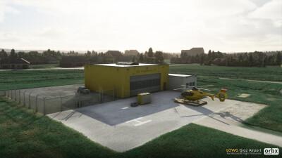 LOWG Graz Airport - Microsoft Flight Simulator screenshot