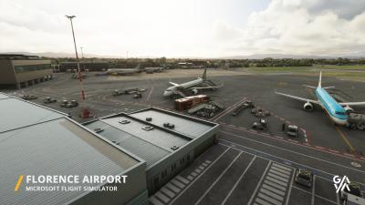 LIRQ Florence Airport - Microsoft Flight Simulator screenshot