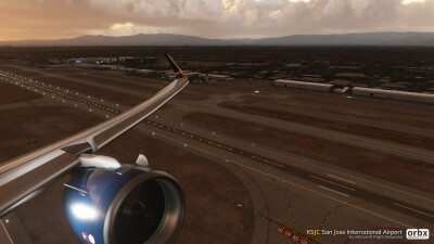 KSJC San Jose International Airport - Microsoft Flight Simulator screenshot