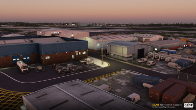 EGNT Newcastle Airport - Microsoft Flight Simulator screenshot