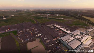 EGNT Newcastle Airport - Microsoft Flight Simulator screenshot