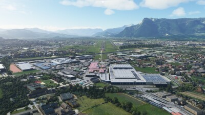 LOWS Salzburg Airport - Microsoft Flight Simulator screenshot