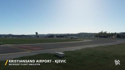ENCN Kristiansand Airport - Microsoft Flight Simulator screenshot