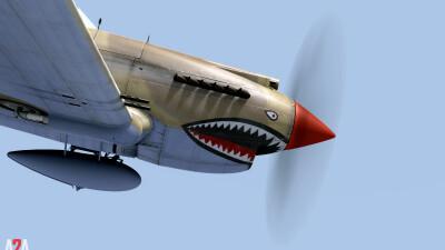 A2A P-40 (P3D Academic) screenshot
