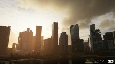 Landmarks Singapore City Pack - Microsoft Flight Simulator screenshot