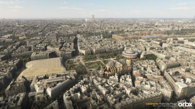Landmarks Paris City Pack - Microsoft Flight Simulator screenshot