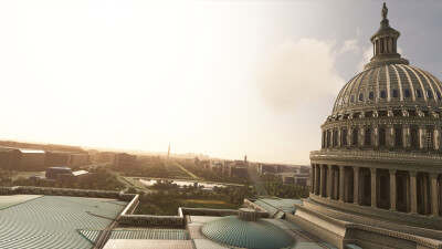 Landmarks Washington - Microsoft Flight Simulator screenshot