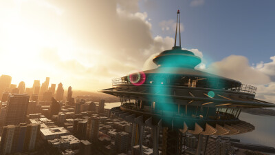 Landmarks Seattle - Microsoft Flight Simulator screenshot