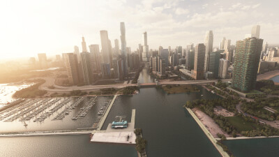 Landmarks Chicago - Microsoft Flight Simulator screenshot