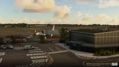 KHVN Tweed New Haven Airport - Microsoft Flight Simulator screenshot