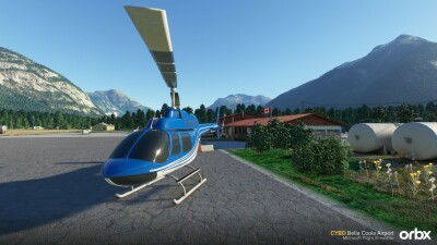 CYBD Bella Coola Airport - Microsoft Flight Simulator screenshot