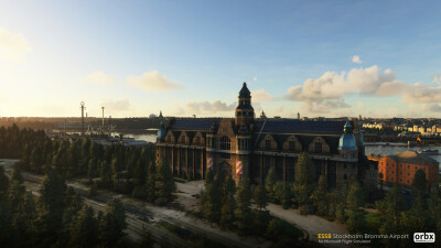 ESSB Stockholm Bromma Airport - Microsoft Flight Simulator screenshot