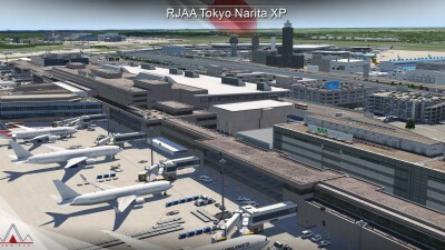 RJAA Narita International Airport - X-Plane 11 screenshot