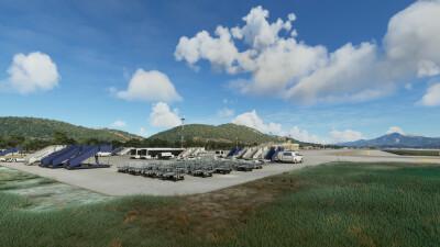 LGSM Samos International Airport - Microsoft Flight Simulator screenshot