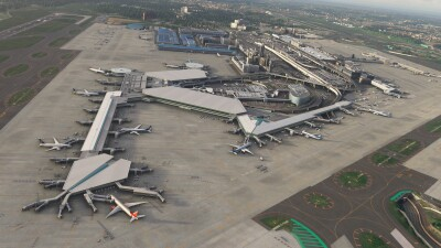 RJAA Narita International Airport - Microsoft Flight Simulator screenshot
