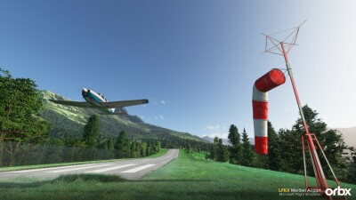 LFKX Meribel Airport - Microsoft Flight Simulator screenshot