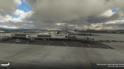 CYVR Vancouver International Airport - Microsoft Flight Simulator screenshot