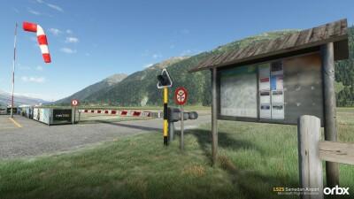 LSZS Samedan Airport - Microsoft Flight Simulator screenshot