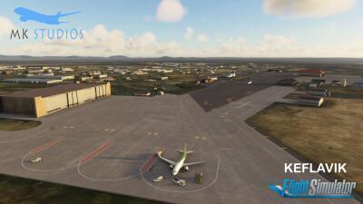BIKF Keflavik Airport - Microsoft Flight Simulator screenshot