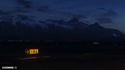 KJAC Jackson Hole Airport - X-Plane 11 screenshot