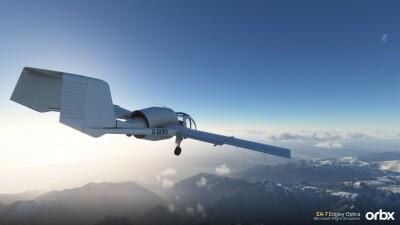 EA-7 Edgley Optica - Microsoft Flight Simulator screenshot