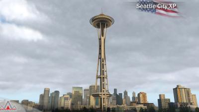 Landmarks Seattle City - X-Plane 11 screenshot