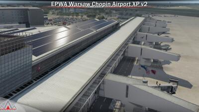 EPWA Warsaw Chopin Airport - X-Plane 11 screenshot