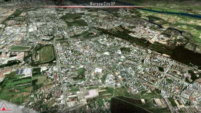 Landmarks Warsaw City - X-Plane 11 screenshot