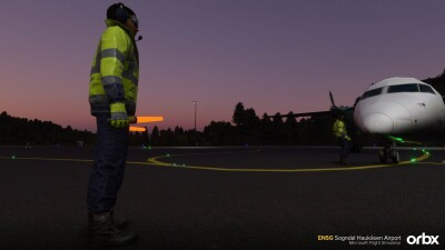 ENSG Sogndal Haukåsen Airport - Microsoft Flight Simulator screenshot