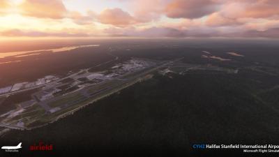CYHZ Halifax Stanfield International Airport - Microsoft Flight Simulator screenshot