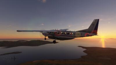 Novawing24 Cessna 208B RFDS VH-NQD Livery screenshot