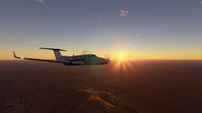 Novawing24 Beechcraft King Air 350i RFDS VH-VPX 2019 Livery screenshot