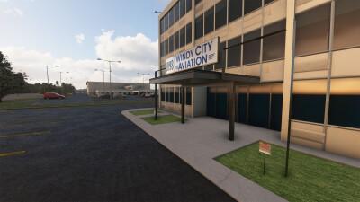 KPWK Chicago Executive Airport - Microsoft Flight Simulator screenshot