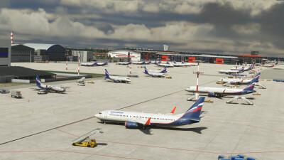 UUEE Moscow Sheremetyevo Airport - Microsoft Flight Simulator screenshot