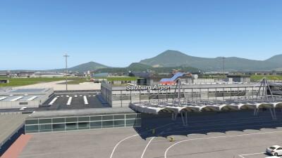 LOWS Salzburg Airport - X-Plane 11 screenshot