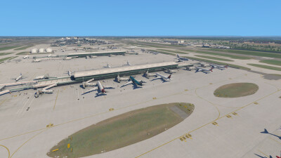 EGLL Heathrow Airport - X-Plane 11 screenshot