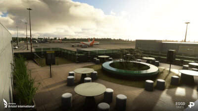EGGD Bristol International Airport - Microsoft Flight Simulator screenshot