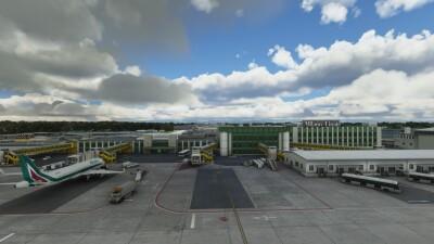 LIML Milan Linate International Airport - Microsoft Flight Simulator screenshot